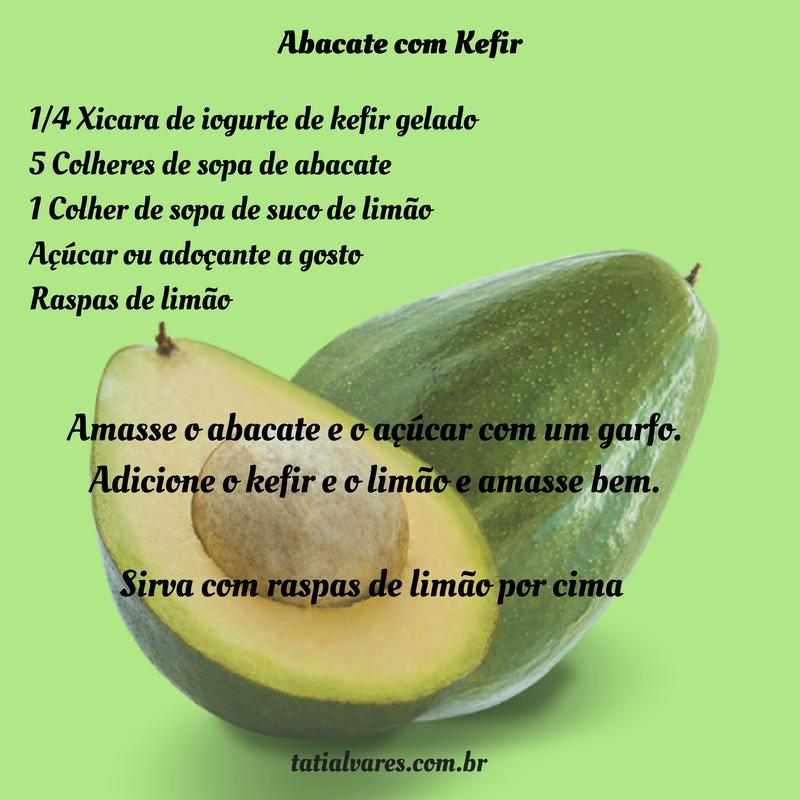 Abacate com Kefir